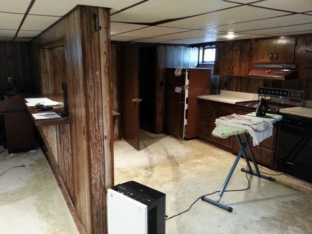 Brewer, Maine Basement Renovation & Waterproofing Project - Before Photo