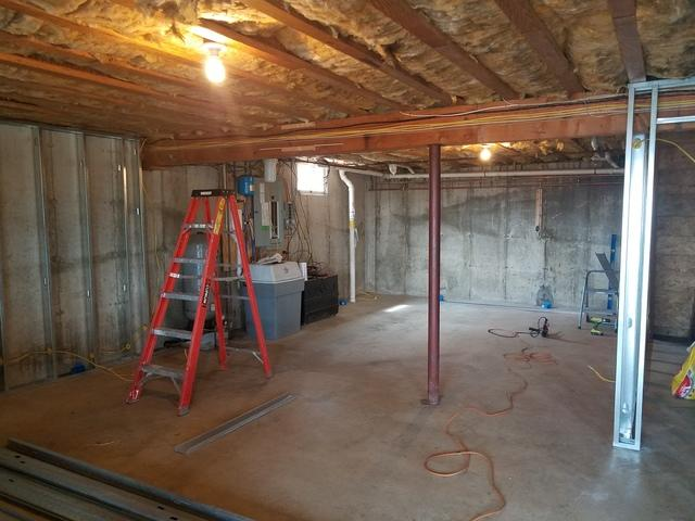 Basement Remodel in Ellsworth, ME - Before Photo
