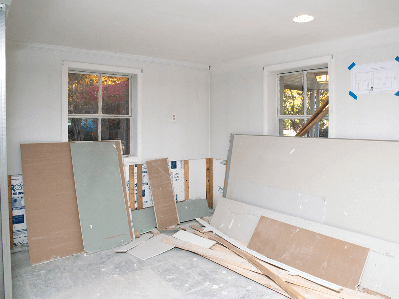 Basement to Dining Area - Before Photo