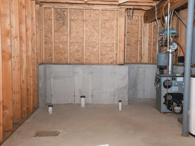 Basement to Bathroom Finish - Before Photo