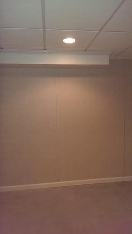 Basement Wall and Ceiling Instillation in Sheboygan, WI