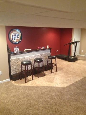A finished basement in Greenfield, Wisconsin!