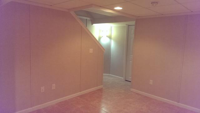 Finished Basement Clean Lines Greendale, WI