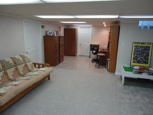 Messy Basement to Beautiful Family Room!