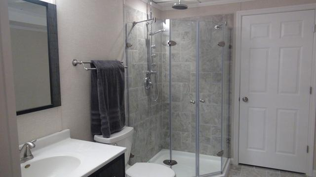 Full Bathroom Added to the Basement in Sturtevant, WI