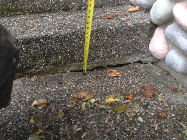 Concrete Lifting & Leveling in Lynnwood, WA - Before Photo