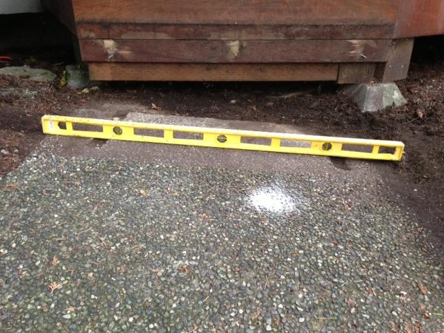 PolyLevel Injection on Walkway in Bellevue, WA - Before Photo