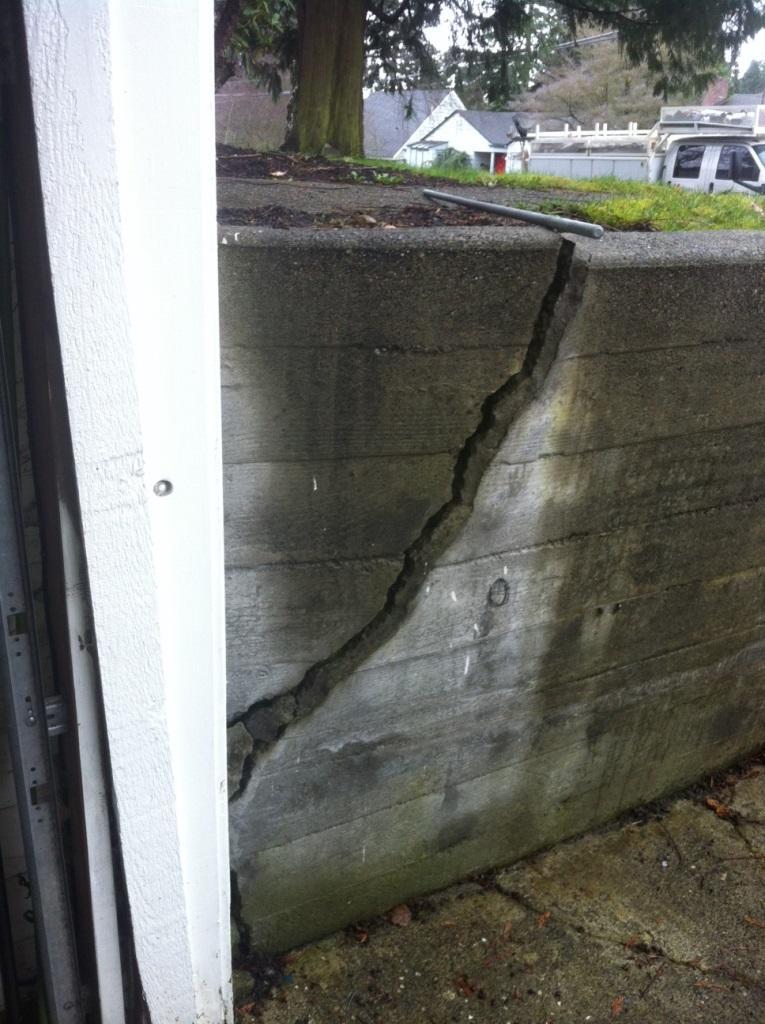 Retaining Wall Repair with Geo-Lock in Seattle, WA - Before Photo