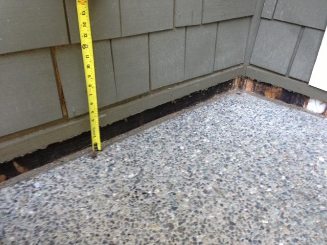 Bellevue, WA Concrete Lifting Repair - Before Photo