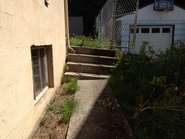 Concrete Lifting & Leveling under Steps in Seattle, WA - Before Photo