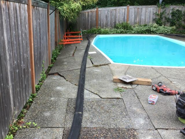 Pool Deck Repair using PolyLevel - Before Photo