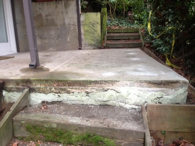 Concrete Lifting & Leveling on Patio in Mercer Island, WA