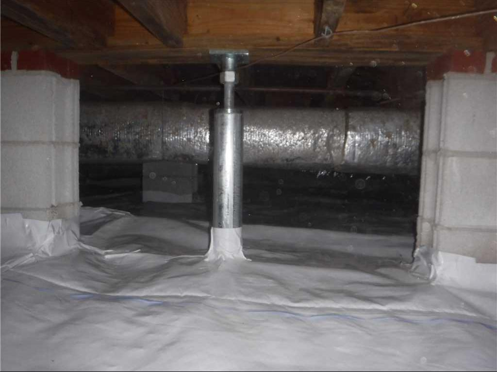 Stabilizing Floors and Moisture Problems in Trenton, NC - After Photo