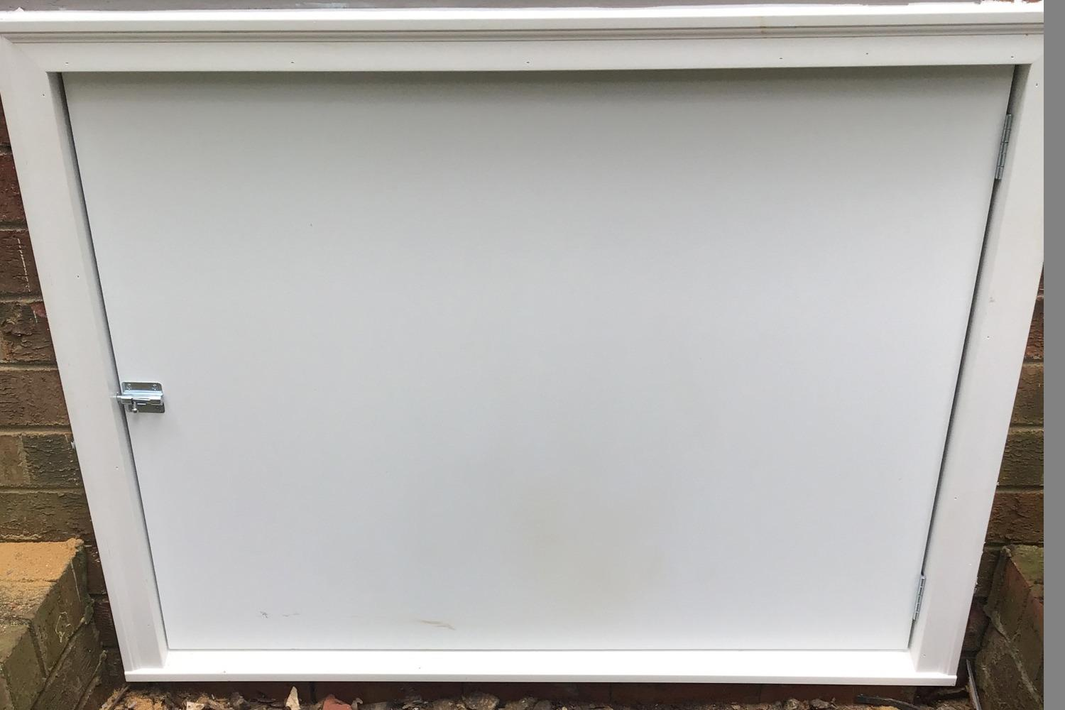 Installing a Custom Crawl Space Door after Encapsulation System in Fuquay- Varina, NC - After Photo