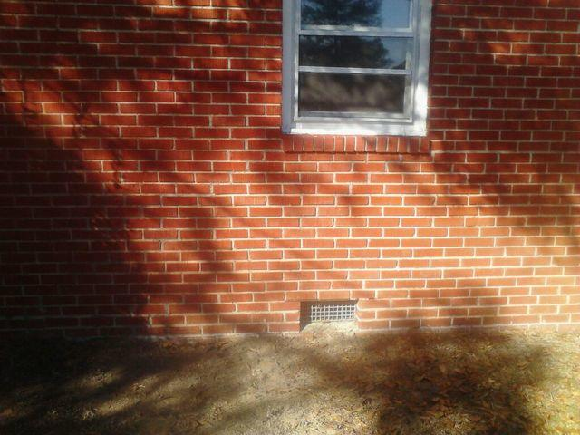 Cracked Brick Foundation in Wilmington, NC