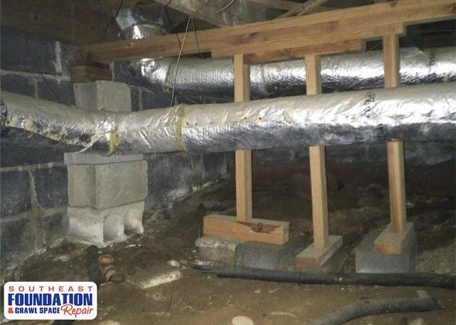 SmartJacks in Fayetteville, NC Crawl Space Stablize the Home