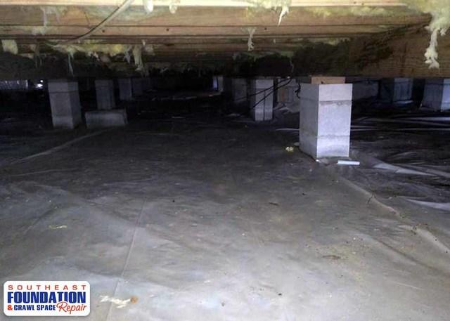 Fixing a Wet Crawl Space in New Bern, NC