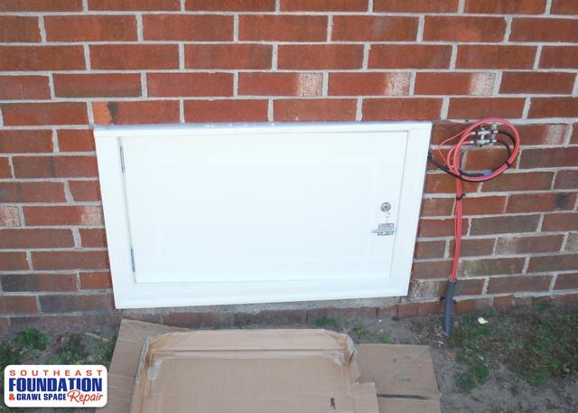 Replacing a Crawl Space Door with Custom Built Door Pink Hill, NC