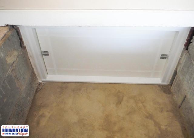 Ugly Door to a Custom Crawl Space Door in Goldsboro, NC