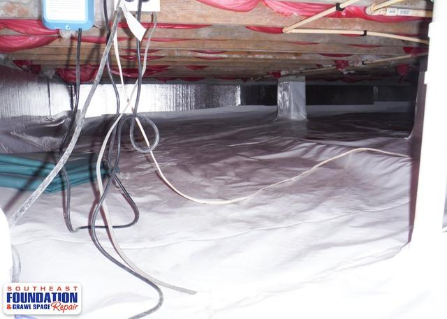 Fixing a Dirty Crawl Space in Goldsboro, NC
