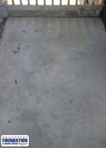 PolyLevel a Sunken Porch in Goldsboro, NC
