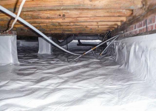 Cleaning up a Crawl Space with CleanSpace in La Grange, NC