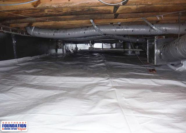 Crawl Space CleanSpace Install in Stella, NC