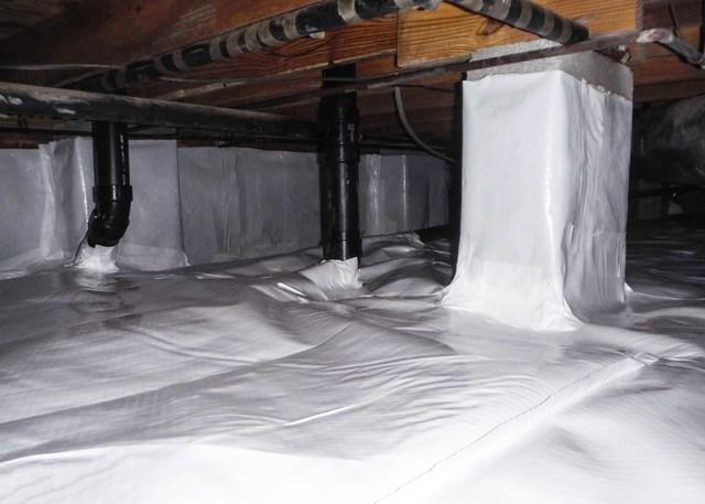 Nasty Crawl Space Transformed with CleanSpace in Ocracoke, NC