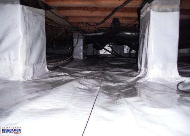 Fixing a Moldy Crawl Space in Atlantic, NC