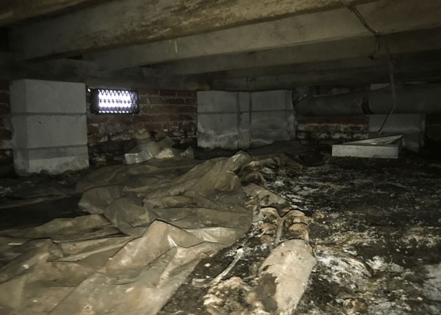 Fixing a Dirty Crawl Space in Orrum, NC