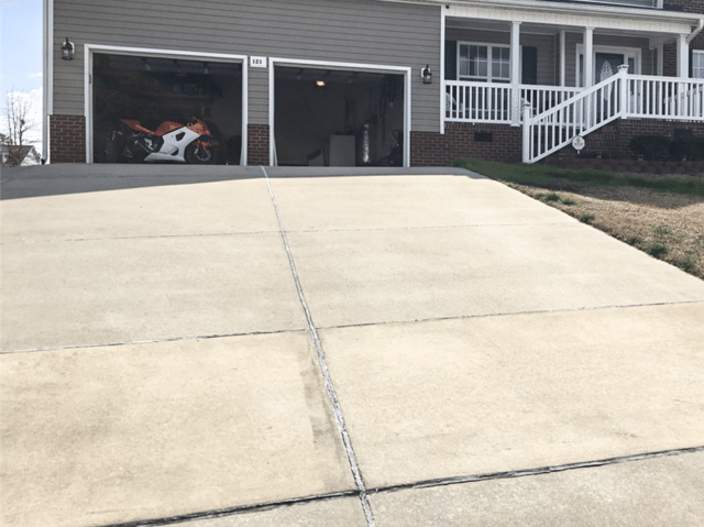 Filling in a  Driveway Void From Washed Away Dirt in Ruby, SC