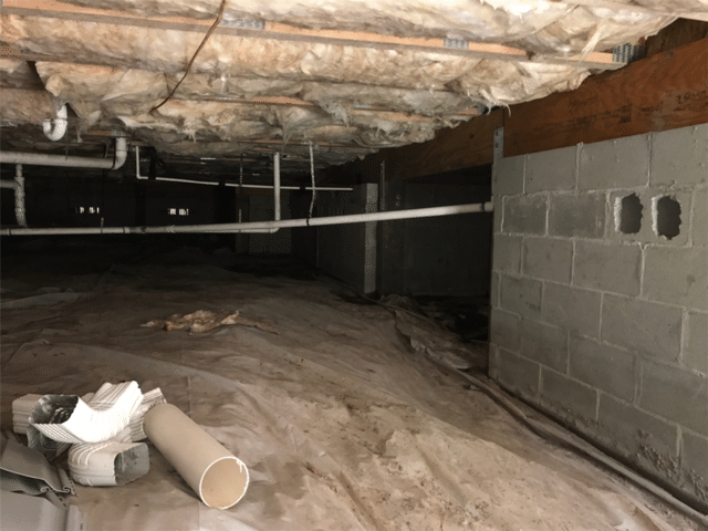 Crawl Space Encapsulation System Installed for Highfalls, NC Home