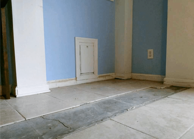 Fixing a Settled Concrete Slab in Carolina Beach, NC