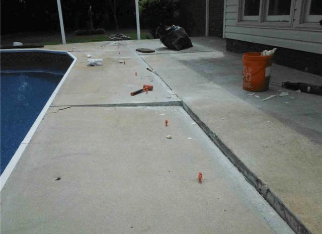 Lifting Sunken Concrete in Selma, NC