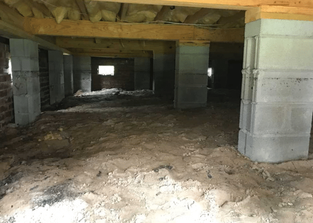 Sealing off a Moisture Ridden Crawl Space in New Bern, NC