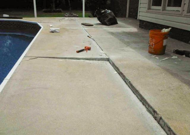 Fixing Concrete around a Pool in Selma, NC