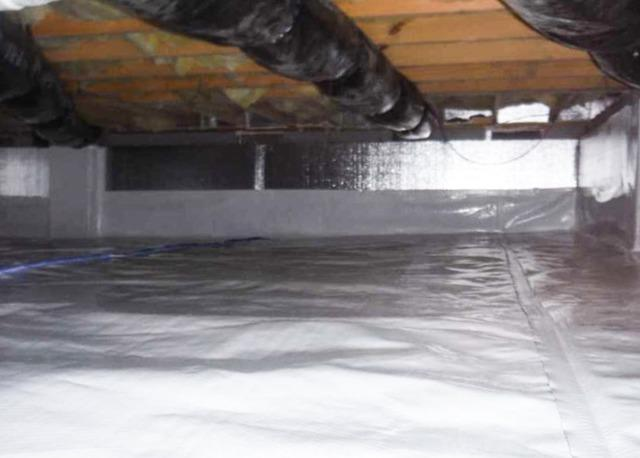 Fixing a Wet Crawl Space in Broadway, NC