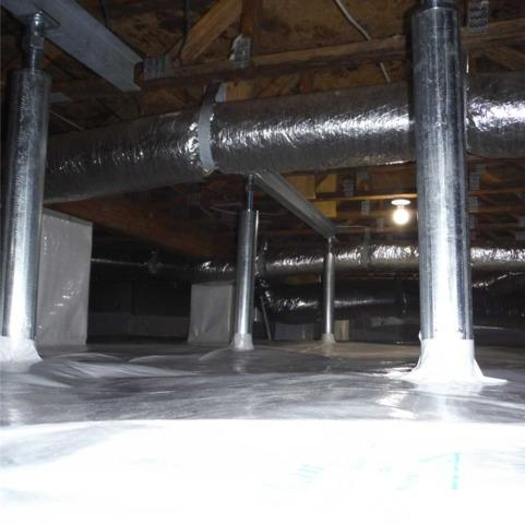 Encapsulation a CleanSpace Crawl Space and Stablizing Floors in Shannon, NC