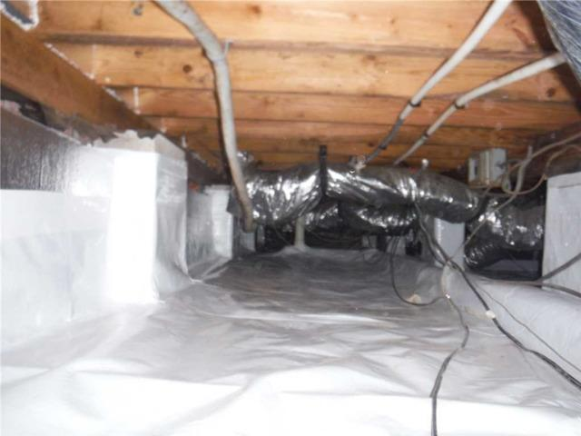 Cleaning up Falling Insulation and Encapsulating the Crawl Space in Ernul, NC