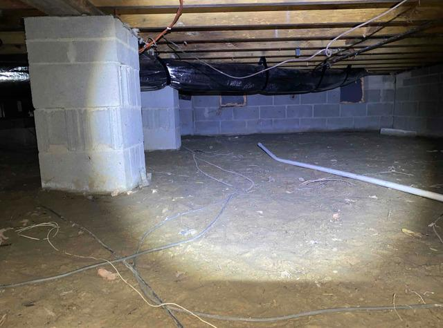 Flooded Crawl Space in Trenton, NC