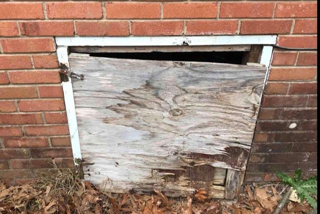 Replacing a Rotted Crawl Space Door with a New PVC Door in Jackson Springs, NC