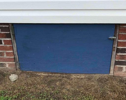 Installing a New Custom Crawl Space Door in Autryville, NC