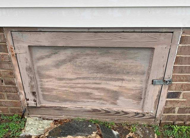 Replacing a Rotting Crawl Space Door with a PVC Door in Willow Springs, NC