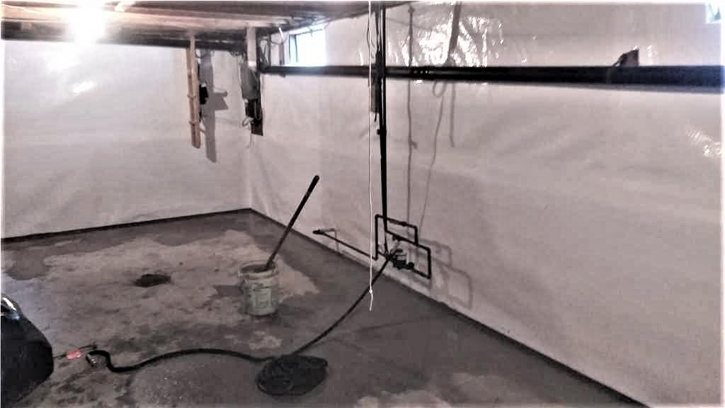 CleanSpace on the Basement Walls in Panton, Vermont - After Photo