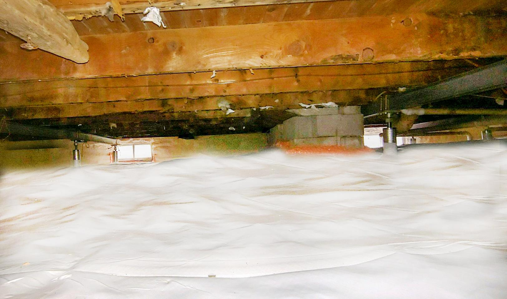 Crawl Space Repair in Colchester, Vermont - After Photo