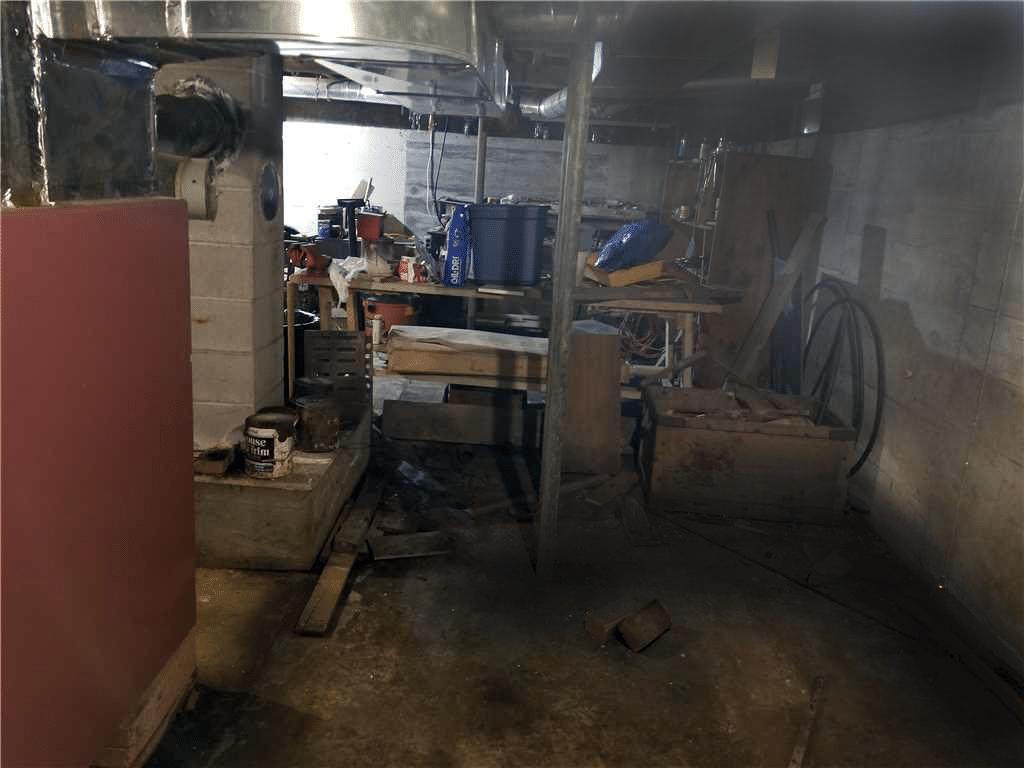 Matt Clark's Northern Basement Systems WaterProofing in Danville, Vermont - Before Photo