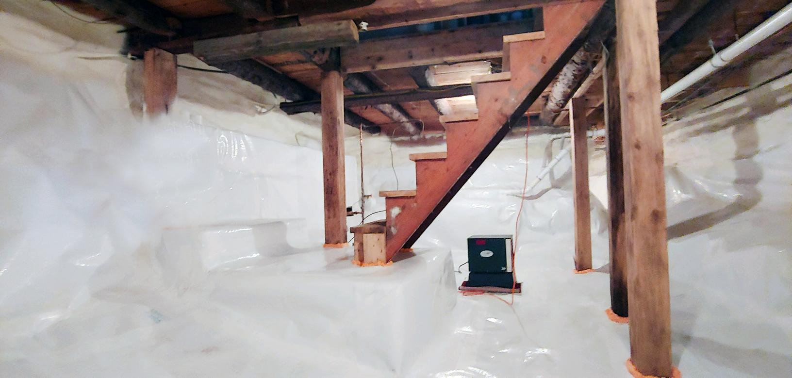 Matt Clark's Northern Basement Systems turns a Nasty Crawl Space into a Useable space in Morristown, Vermont - After Photo