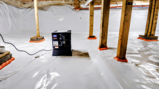 Water Taking Over Basement in Alstead, New Hampshire - After Photo