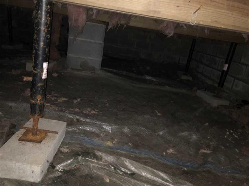 Unstable and Cold Crawl Space in Killington, Vermont - Before Photo
