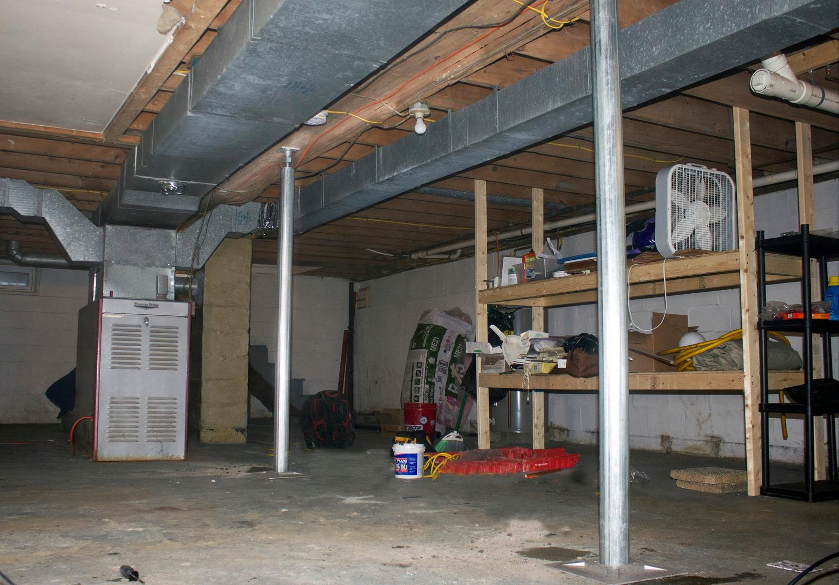 Replacing old I-Beam supports with Galvanized Steel SmartJacks in Claremont, New Hampshire - After Photo